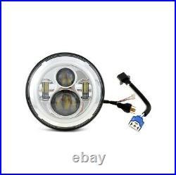 2x LED headlamp 7 Universal headlights daytime running lights Craftride chrome