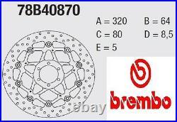 Bremsscheibe BREMBO Serie Oro Hinten Moto Morini 1200 CORSARO Schnell 07 09
