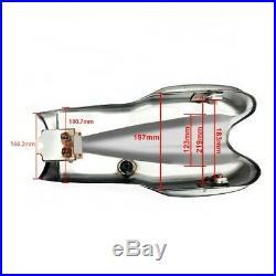 Fuel Tank Cafe Racer VT2 for BMW Honda Kawasaki Yamaha Suzuki Ducati silver