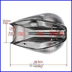 Fuel Tank Cafe Racer VT4 for BMW Honda Kawasaki Yamaha Suzuki Moto Guzzi silver