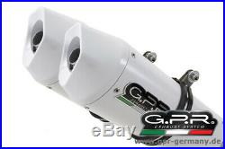 GPR Albus Ceramic Moto Morini Corsaro 1200 2005-11 Slip On Doppelendschalldämpfe