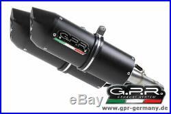 GPR Furore Nero Italia Moto Morini Corsaro 1200 2005-11 Slip On Doppelendschalld