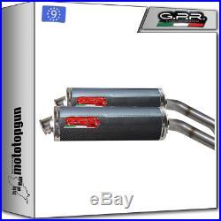 Gpr Hom Oval Carbon 2 Kit Exhaust Moto Morini Corsaro 1200 2005/2011