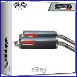 Gpr Race Oval Carbon 2 Kit Exhaust Moto Morini Corsaro 1200 2005/2011
