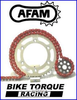 Moto Morini 1200 Corsaro 06-07 AFAM Upgrade Red Chain And Sprocket Kit