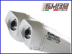 Moto Morini Corsaro 1200 2005-2011 GPR Exhaust Dual Silencers Albus White New