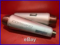 Moto Morini Corsaro 1200 Left And Right Exhaust Silencers 2006-2009