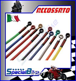 Moto Morini Corsaro 2010 Accossato Brake Line Kit Oem Braided Hose Set