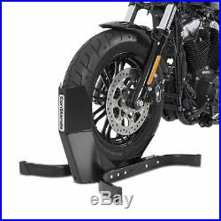 Motorcycle Paddock Stand Wheel Chock Set Constands Rear Front CEB Black