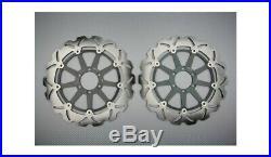 Pair of Front Wave Brake Discs Rotors 320mm MOTO MORINI CORSARO 1200 2005-2009