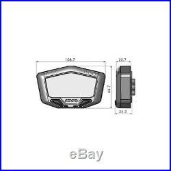 Tachometer Koso DB02, speed, odo, trip, rpm, temp, white lights